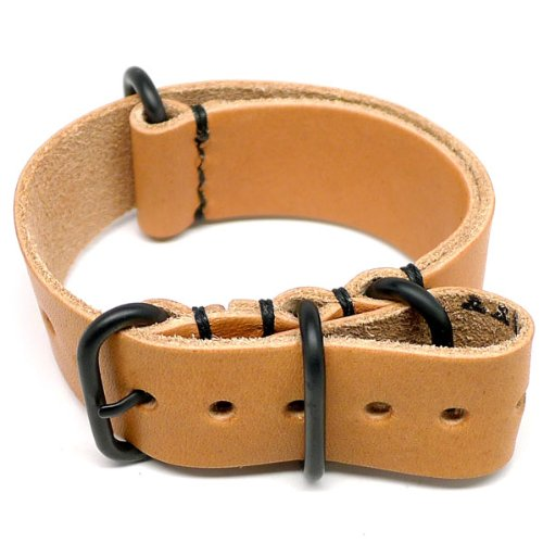 DaLuca Military Watch Strap - Natural Essex (PVD Buckle) : 20mm