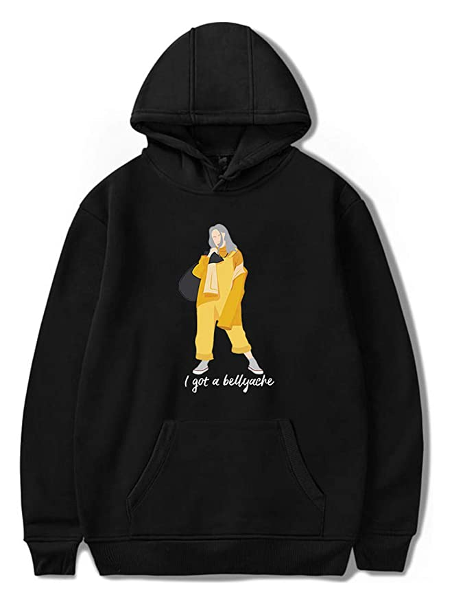 SIMYJOY Billie Eilish Bellyache Hoodie Pullover Hiphop Street Fashion Oversized Sweatshirt at Amazon Womens Clothing store: