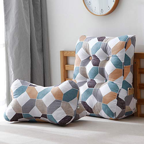 GAOYANG Triangular Wedge Cushion, Support Belt and Reading Pillow, Treatment Leg Elevation 2 Pieces are Removable and Washable, Home Office, 6 Colors (55cm) (Color : F, Size : 55CM) by GAOYANGchuangtouzhen (Image #3)