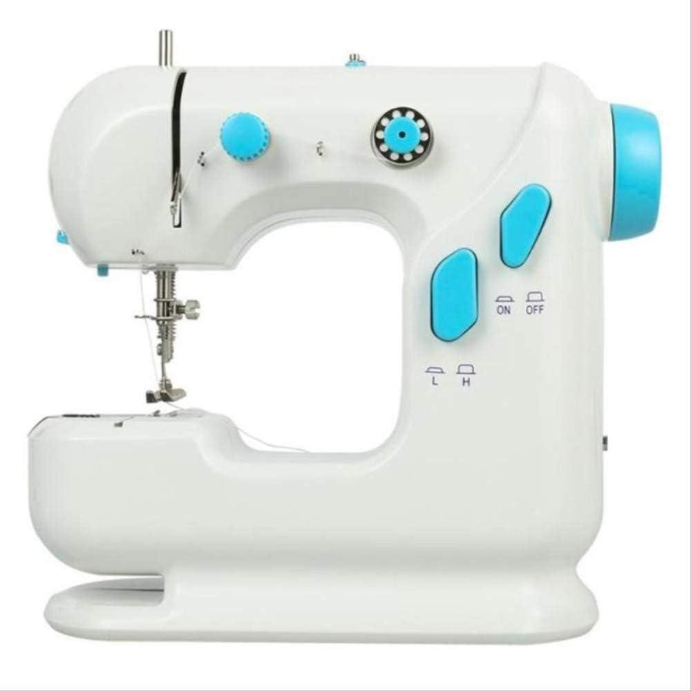 Máquina de coser portátil, W6 máquina de coser, pequeña máquina overlock de presión ajustable eléctrica de coser portátil, utilizado como tela inalámbrico máquina de la carpintería del hogar Máquina d: Amazon.es: Hogar