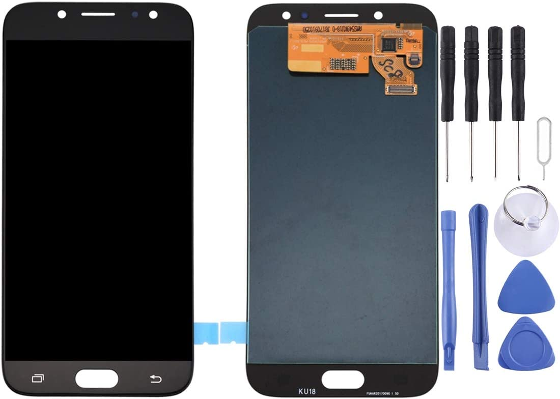 J730F//DS 2017 Black LCD Screen Mobile Phone and Digitizer Full Assembly for Galaxy J7 J730FM//DS Color : Black
