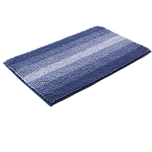 28x18 Inch Bath Rugs Made of 100% Polyester Extra Soft and Non Slip Bathroom Mats Specialized in Machine Washable and Water Absorbent Shower Mat,Blue