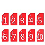 Digit 10Pcs Red Silicone Luggage Tag With Name ID Card By CPACC