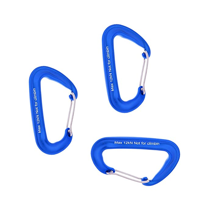 3x Aluminum Wiregate Carabiner Keychain Hook Ring Backpack Clip Buckle Red