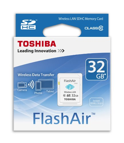 Toshiba 32GB FlashAir SDHC Wireless Wi-Fi Memory Card Model SD-R032GR7AL03A