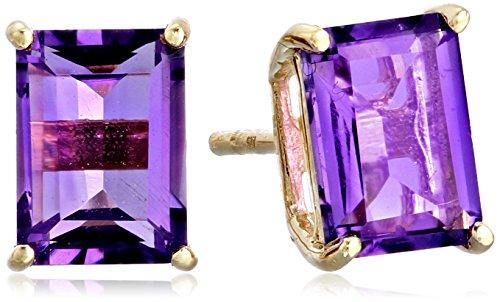 14k Gold Emerald-Cut Gemstone