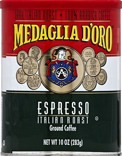 (Medaglia D'Oro Italian Roast Espresso Coffee, 10 Ounce)