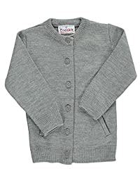 Cookie's Brand Big Girls' Crewneck Cardigan Sweater
