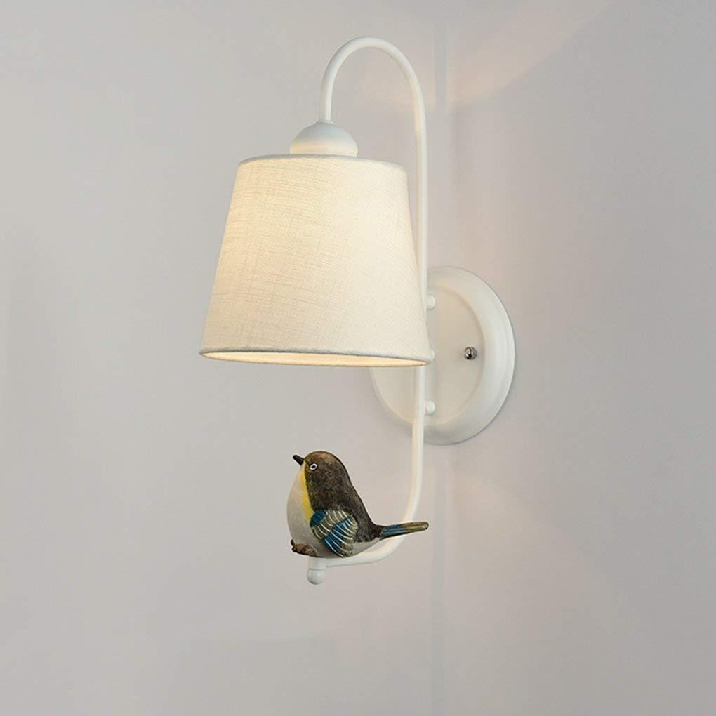 Xiao Fan    Nordeuropa Modernes minimalistisches Schlafzimmer Nachttischlampe Wandleuchten Creative Birdie Wohnzimmer Gang Treppenlichter E27 Nachttischlampe (Farbe    2)