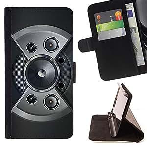 - Speaker Design - - Prima caja de la PU billetera de cuero con ranuras para tarjetas, efectivo desmontable correa para l Funny HouseFOR LG G2 D800