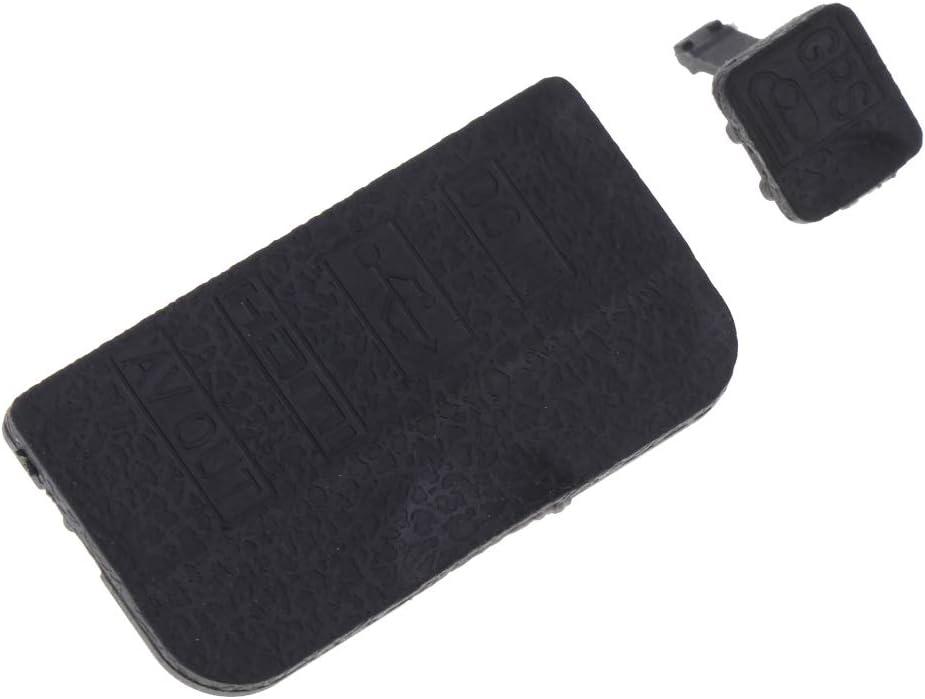 Almencla Rubber Cover Set USB Interface Cap AV Out DC in HDMI GPS Lid for D90