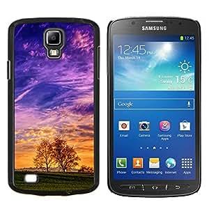 Colorido Valle- Metal de aluminio y de plástico duro Caja del teléfono - Negro - Samsung i9295 Galaxy S4 Active / i537 (NOT S4)