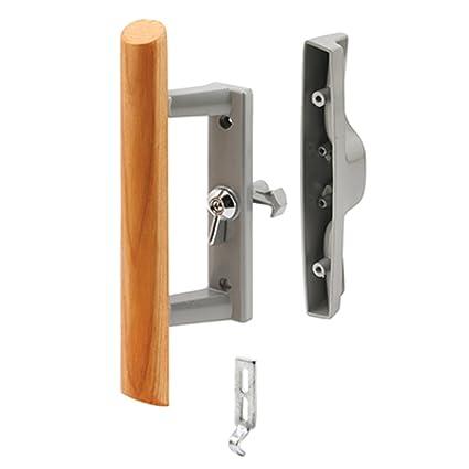 Sliding Glass Patio Door Handle Set with Internal Lock for Viking Doors,  3-15/16