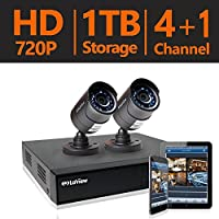 LaView 2 HD 720P Security Camera System, 4 Channel HD-TVI Analog CCTV Video DVR System w/ 1TB HDD & 2 Bullet 720P Cameras