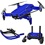 MightySkins Skin For DJI Max Coverage - Blue Carbon Fiber | Protective, Durable, and Unique Vinyl Decal wrap cover | Easy To Apply, Remove, and Change Styles | Made in the USA