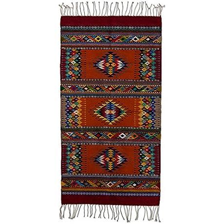 NOVICA Multicolor Wool Geometric Area Rug 2 5 X 5 Stars In Color