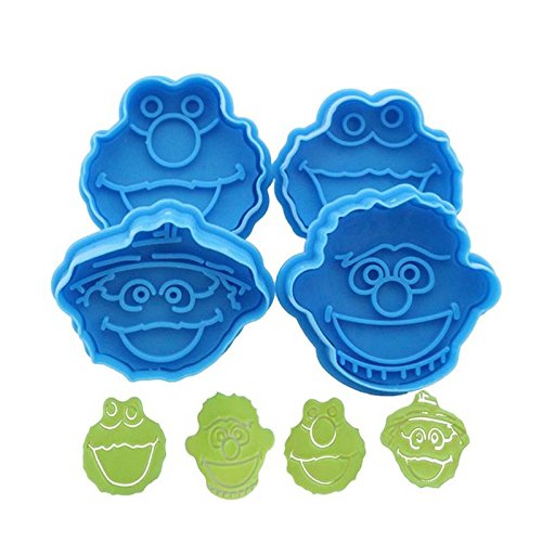 Cookie Cutters Hot Sale 3D Sesame Street Elmo Cookie Cutter Biscuit Hand Stamp Press Plunger Cutter Mold