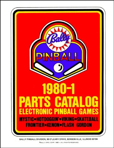(1980-1 Bally Pinball Machine Coin-Op Game Parts Manual Catalog)