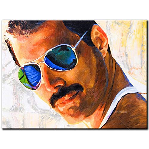 LLWWRR1 5D Diamond Painting Full Round Diamond Embroidery Freddie Mercury Rhinestones Mosaic Cross Stitch Decoratio, 40X50Cm ()