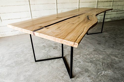 Modern Red Elm Live Edge Dining / Conference Table