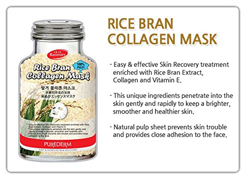 [Purederm - Collagen Mask - Skin Recovery - 10 x Moisturising Masks for men and woman - Moisturising & Rejuvenating Masks & Aging] (Witch Doctor Costume Diy)