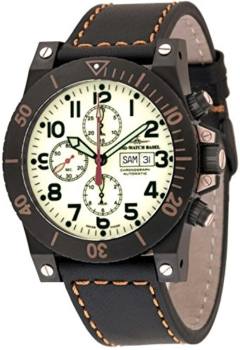 Zeno-Watch Mens Watch - Muscle Chronograph Lumi black - 8023TVDD-bk-s9