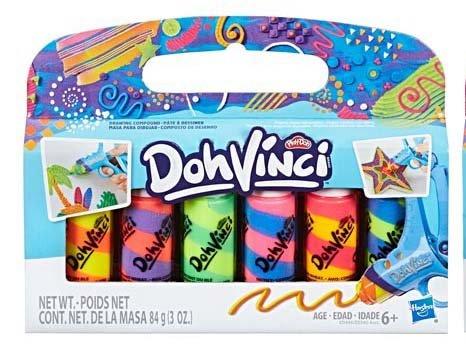 6 Tubes Per Pack PD Play Doh DohVinci Bundle of 3 Deco Pop Refill Packs
