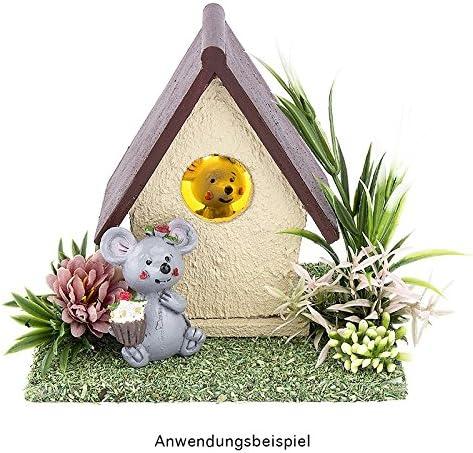 Vogel Casita Madera dom/éstica unidades manualidades Primavera Decoraci/ón para Casa y jard/ín DIY 10,4/x 8,1/x 6,4/cm dise/ño 5