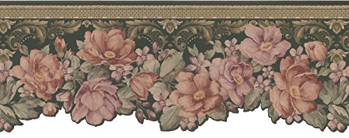 Brewster Mirage 975B04637 Mirage XV Floral Die-Cut Wall Border, 8.25-Inch by 180-Inch (Die Cut Wall Border)