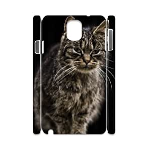 3D Nuktoe Farm Cat Samsung Galaxy Note 3 Cases for Guys Design, Samsung Galaxy Note 3 Case [White]