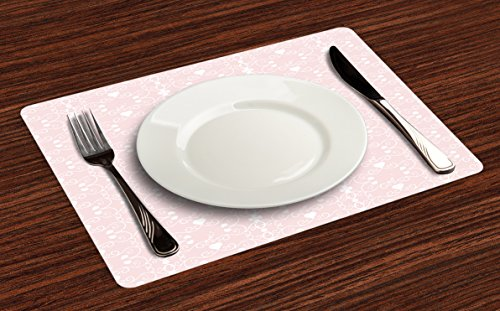 Victorian heart placemat