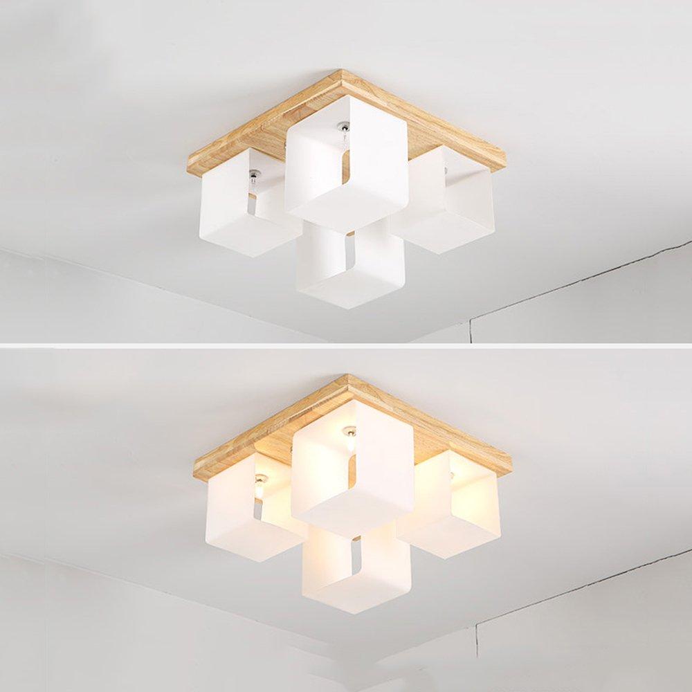 C-K-P Led Lámparas de Techo de Madera sólida Simple Lámparas ...