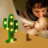 Flecom Cactus Light, Cactus Lamp Night Table Lamp