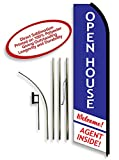 Open House Agent Inside Swooper Flag Kit – Red, White, and Blue 11ft
