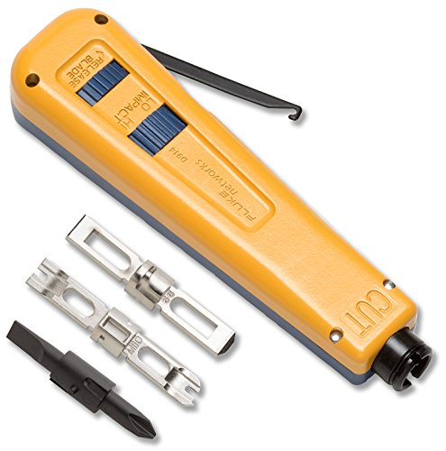 Fluke Networks 10051501 D914 Impact Punch Down Tool with EverSharp 66/110 Plus Screwdriver - Down 110 Tool Punch