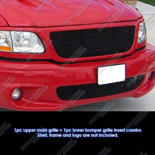 F150 Lightning - APS Fits 99-03 Ford F-150 Lightning Black Billet Grille Combo #F87932H