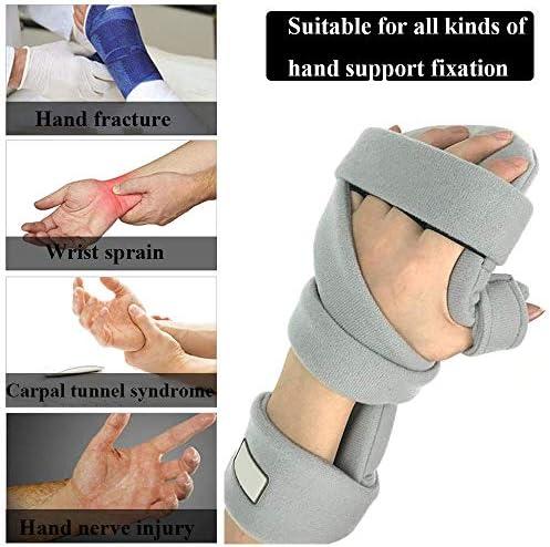 手骨折ナイトレストスプリント、痛み腱炎骨折脱臼のための調節可能な手首ブレース指板,Righthand2pcs