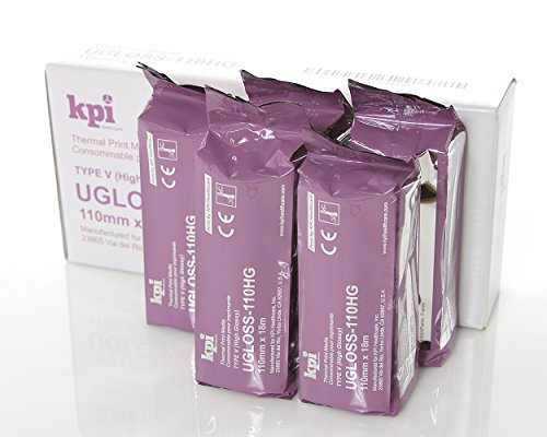 Compatible UPP-110HG High Gloss Ultrasound Paper Film/Media KPI-UGloss 110HG (5 Rolls per Box) UPP 110HG Equivalent for UPX898 and UPD898 100% Guaranteed!!! (Ultrasound Print)