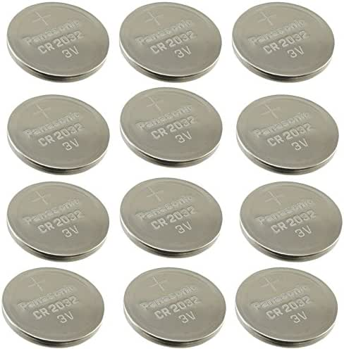 (12pcs) PANASONIC Cr2032 3v Lithium Coin Cell Battery for Misfit Shine Sh0az Personal Physical Activity Monitor