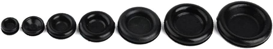 KKmoon Ojales de goma Juego de bobina de alambre de protecci/ón multifuncional Accesorios el/éctricos de alambre con cuentas 170 juegos