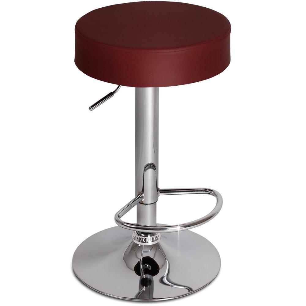 Miadomodo Sgabello sedia da bar cucina regolabile con poggiapiedi colore arancione set da 1