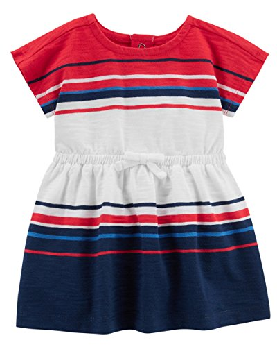 - Carter's Baby Girls' 0M-24M Summer Dresses with Diaper Covers (Red White Blue, 3 Months)