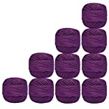 Violet Knitting Thread Handicrafter Balls Mercerized Embroidery 10 Pcs Cotton Crochet Yarn Cross Stitch Tatting Doilies Skeins Lacey Craft