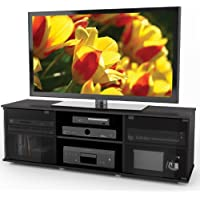 Sonax FB-2600 Fiji 60-Inch TV Component Bench, Ravenwood Black