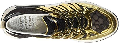 Mujer Zapatilla Baja Oro Bd0694 Multicolore Barracuda Nero wp7BW