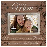 Malden International Designs Sun Washed Words Mom Walnut Distressed Picture Frame, 4x6, Walnut