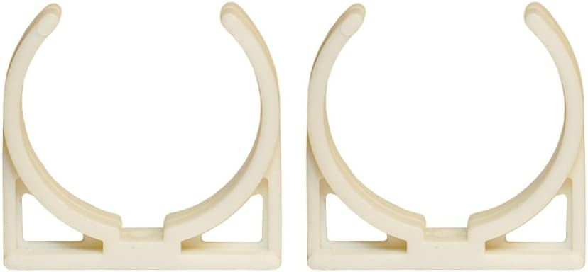 """2"""" Clip Bracket, hold metal base and 2"""" wide inline filter, set of 2. Color: white"""
