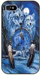 Dreamcatcher, wolfs and moon - iPhone 5C black plastic case / Inspiration