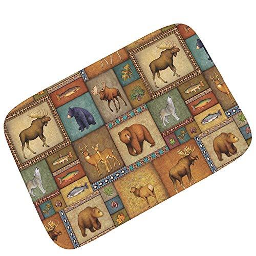 Price comparison product image KJDOOR Door mat 3D Printing Personality cat Carpet Floor mat Living Room Bedroom Porch Entry pad Absorbent Non-Slip Flannel,  B