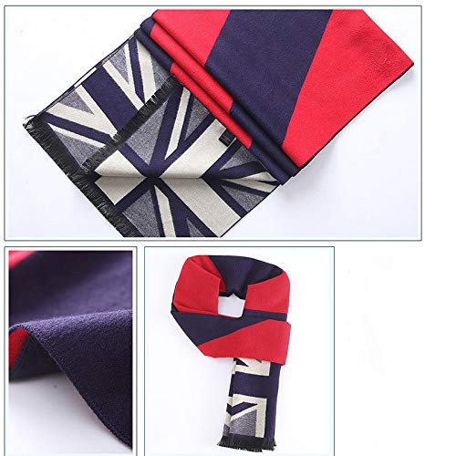 Men's Fashion Vinatage Large Oblong Scarf Wraps Collection 180Cm34Cm